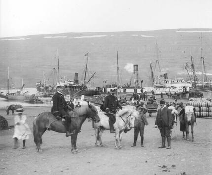 The harbour in Akureyri - old picture