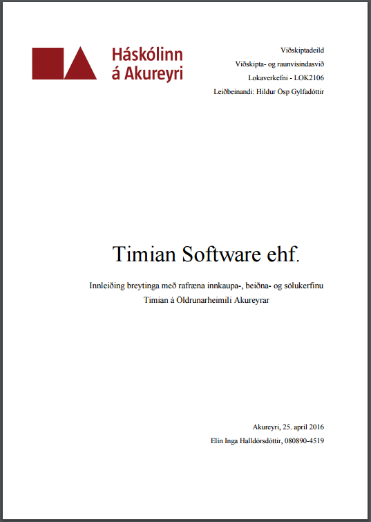 Timian Software ehf