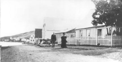 The Beach in Akureyri - old picture