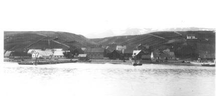 The Downtown in Akureyri - old picture